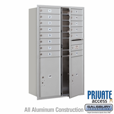 Salsbury 3714D-14AFP 4C Mailboxes 14 Tenant Doors Front Loading