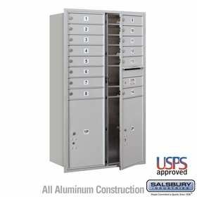 Salsbury 3714D-14AFU 4C Mailboxes 14 Tenant Doors Front Loading