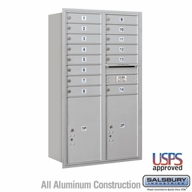 Rear Loading Horizontal Mailboxes 13 to 14 Doors