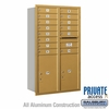 Salsbury 3714D-14GRP 4C Mailboxes 14 Tenant Doors Rear Loading
