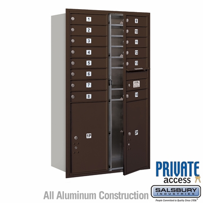 Salsbury 3714D-14ZFP 4C Mailboxes 14 Tenant Doors Front Loading