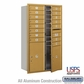 Salsbury 3714D-15GFU 4C Mailboxes 15 Tenant Doors Front Loading
