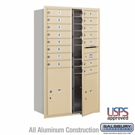 Salsbury 3714D-15SFU 4C Mailboxes 15 Tenant Doors Front Loading