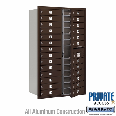 Salsbury 3714D-26ZFP 4C Mailboxes 26 Tenant Doors Front Loading