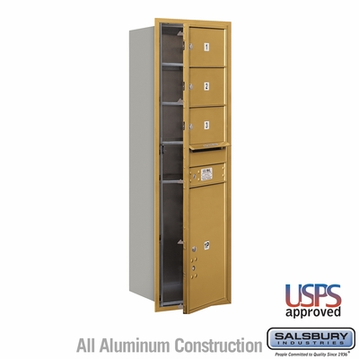 Salsbury 3714S-03GFU 4C Mailboxes 3 Tenant Doors Front Loading