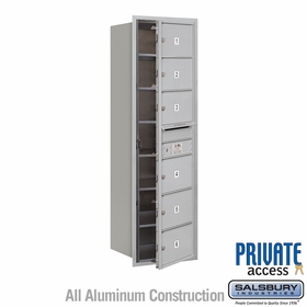 Salsbury 3714S-06AFP 4C Mailboxes 6 Tenant Doors Front Loading