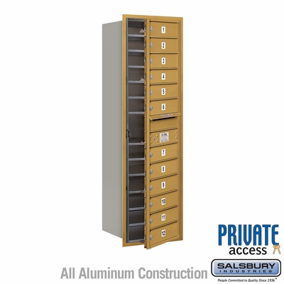 Salsbury 3714S-12GFP 4C Mailboxes 12 Tenant Doors Front Loading