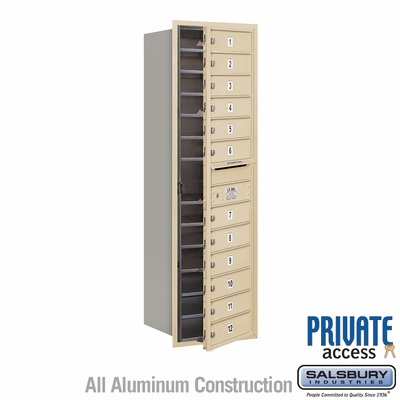 Salsbury 3714S-12SFP 4C Mailboxes 12 Tenant Doors Front Loading
