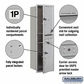 Salsbury 3714S-2PAFU 4C Mailboxes 2 Parcel Lockers Front Loading