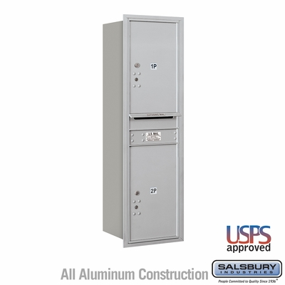 Salsbury 3714S-2PARU 4C Mailboxes 2 Parcel Lockers Rear Loading