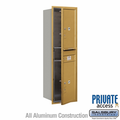 Salsbury 3714S-2PGFP 4C Mailboxes 2 Parcel Lockers Front Loading