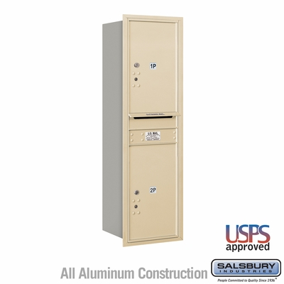 Salsbury 3714S-2PSRU 4C Mailboxes 2 Parcel Lockers Rear Loading