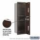 Salsbury 3714S-2PZFP 4C Mailboxes 2 Parcel Lockers Front Loading