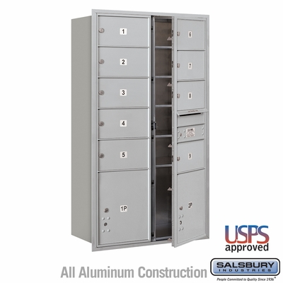 Salsbury 3715D-09AFU 4C Mailboxes 9 Tenant Doors Front Loading