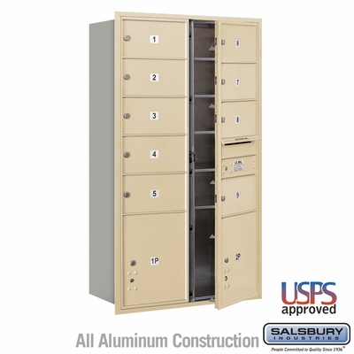 Salsbury 3715D-09SFU 4C Mailboxes 9 Tenant Doors Front Loading