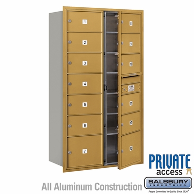 Salsbury 3715D-13GFP 4C Mailboxes 13 Tenant Doors Front Loading
