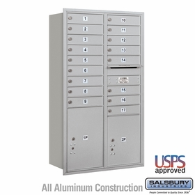 Rear Loading Horizontal Mailboxes 17 to 18 Doors