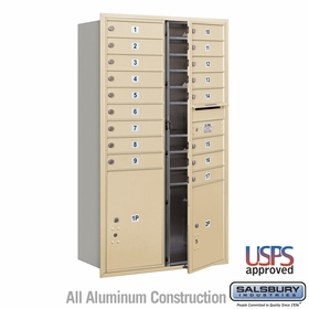 Salsbury 3715D-17SFU 4C Mailboxes 17 Tenant Doors Front Loading