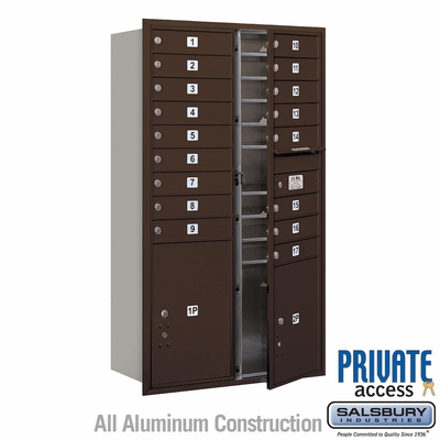 Salsbury 3715D-17ZFP 4C Mailboxes 17 Tenant Doors Front Loading