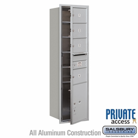 Salsbury 3715S-04AFP 4C Mailboxes 4 Tenant Doors Front Loading