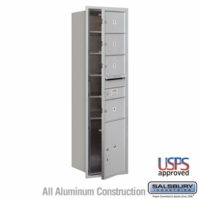 Salsbury 3715S-04AFU 4C Mailboxes 4 Tenant Doors Front Loading