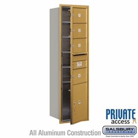 Salsbury 3715S-04GFP 4C Mailboxes 4 Tenant Doors Front Loading