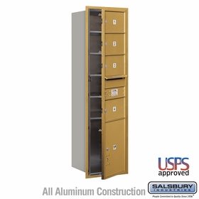 Salsbury 3715S-04GFU 4C Mailboxes 4 Tenant Doors Front Loading