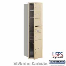 Salsbury 3715S-04SFU 4C Mailboxes 4 Tenant Doors Front Loading