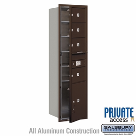 Salsbury 3715S-04ZFP 4C Mailboxes 4 Tenant Doors Front Loading