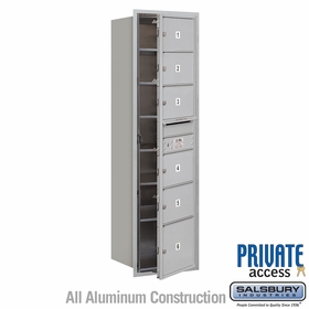Salsbury 3715S-06AFP 4C Mailboxes 6 Tenant Doors Front Loading