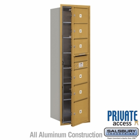 Salsbury 3715S-06GFP 4C Mailboxes 6 Tenant Doors Front Loading