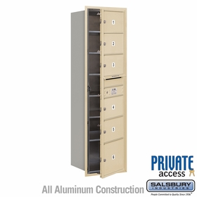 Salsbury 3715S-06SFP 4C Mailboxes 6 Tenant Doors Front Loading