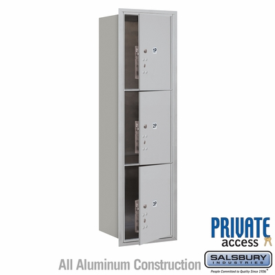 Salsbury 3715S-3PAFP 4C Mailboxes 3 Parcel Lockers Front Loading