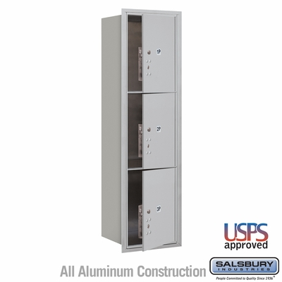 Salsbury 3715S-3PAFU 4C Mailboxes 3 Parcel Lockers Front Loading