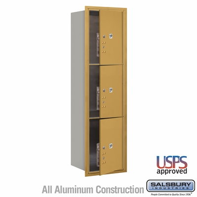Salsbury 3715S-3PGFU 4C Mailboxes 3 Parcel Lockers Front Loading