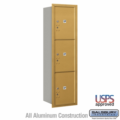 Salsbury 3715S-3PGRU 4C Mailboxes 3 Parcel Lockers Rear Loading