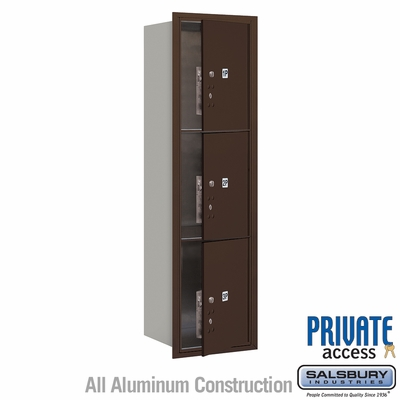 Salsbury 3715S-3PZFP 4C Mailboxes 3 Parcel Lockers Front Loading