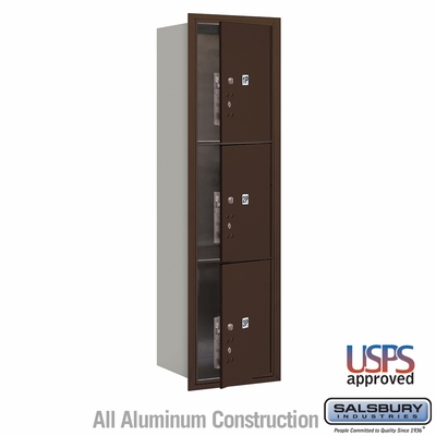 Salsbury 3715S-3PZFU 4C Mailboxes 3 Parcel Lockers Front Loading