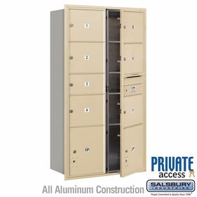 Salsbury 3716D-07SFP 4C Mailboxes 7 Tenant Doors Front Loading
