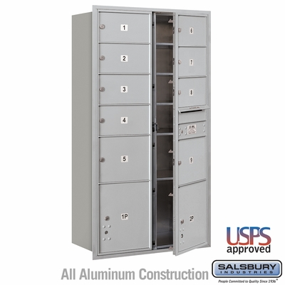 Salsbury 3716D-09AFU 4C Mailboxes 9 Tenant Doors Front Loading