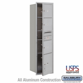 Salsbury 3716S-03AFU 4C Mailboxes 3 Tenant Doors Front Loading