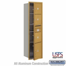 Salsbury 3716S-03GFU 4C Mailboxes 3 Tenant Doors Front Loading