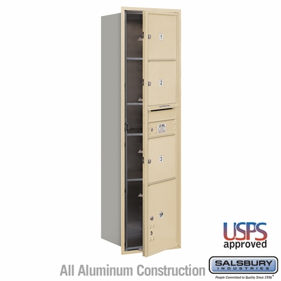 Salsbury 3716S-03SFU 4C Mailboxes 3 Tenant Doors Front Loading