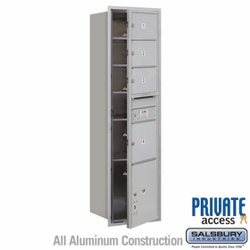 Salsbury 3716S-04AFP 4C Mailboxes 4 Tenant Doors Front Loading