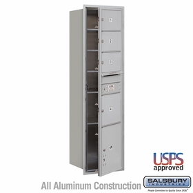 Salsbury 3716S-04AFU 4C Mailboxes 4 Tenant Doors Front Loading