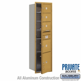 Salsbury 3716S-04GFP 4C Mailboxes 4 Tenant Doors Front Loading
