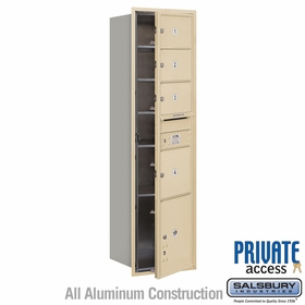 Salsbury 3716S-04SFP 4C Mailboxes 4 Tenant Doors Front Loading
