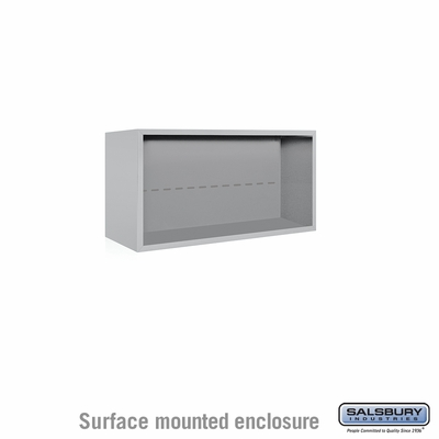 Salsbury 3804D-ALM Surface Mounted Enclosure - for 3704 Double Column Unit - Aluminum