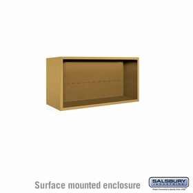 Salsbury 3804D-GLD Surface Mounted Enclosure - for 3704 Double Column Unit - Gold