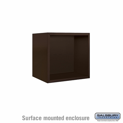 Salsbury 3804S-BRZ Surface Mounted Enclosure - for 3704 Single Column Unit - Bronze
